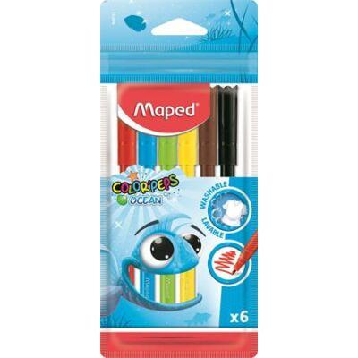 Filctoll készlet Maped Color Peps Ocean 6 szín