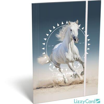 Lovas A4 gumis mappa - Kis bagoly Horse
