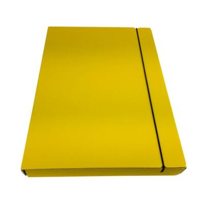 Fortuna A4 gumis mappa 30 mm - sárga