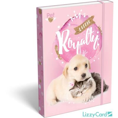Kutyás cicás A5 füzetbox - Little Friends Pink
