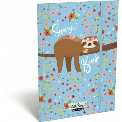 Lajháros gumis mappa - A5 - Lollipop Sloth Royal