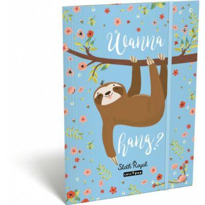Lollipop Sloth Royal Lajháros A4 gumis mappa