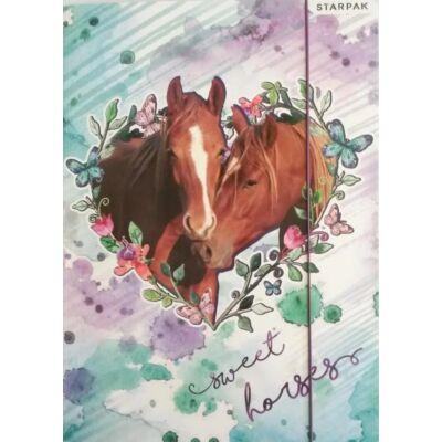 Lovas A4 gumis mappa - Sweet Horses