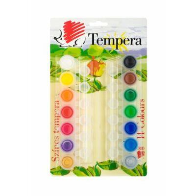 ICO tempera Süni 14 szín tégelyes