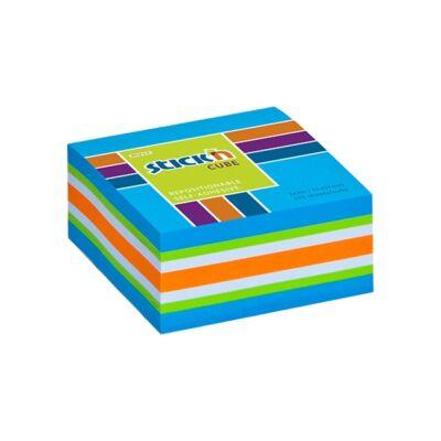 Öntapadós jegyzettömb - 250 lapos neon kék mix post-it 51x51 mm - Stick'N