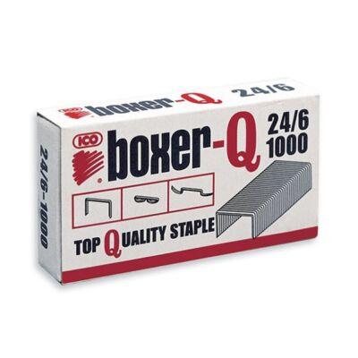 Tűzőkapocs 24/6 - Boxer-Q - 1000 db