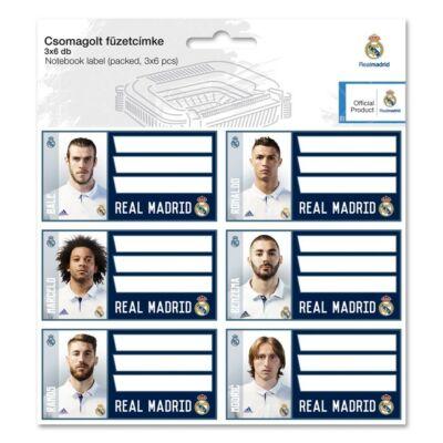 Real Madrid füzetcímke