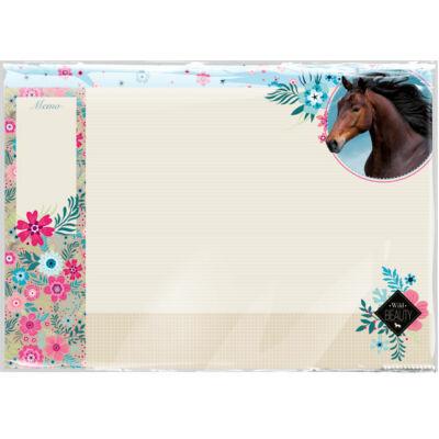 Wild Beauty Blue lovas asztali jegyzetelhető füzetalátét unikornisos könyöklő