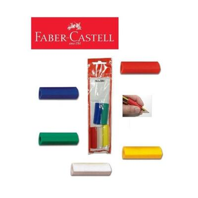 Ceruzafogó és radír háromszögletű - Faber-Castell - 5 db / csomag