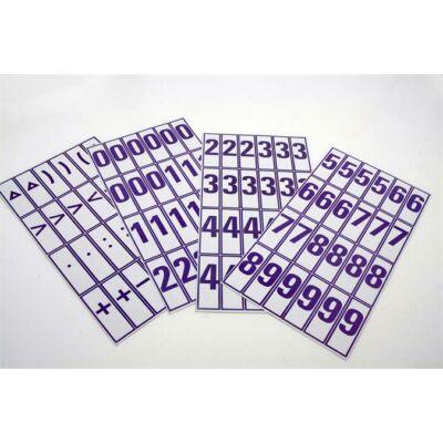 Számkártya és jelkártya 1. osztályosoknak