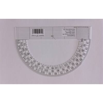 Szögmérő papír 180°