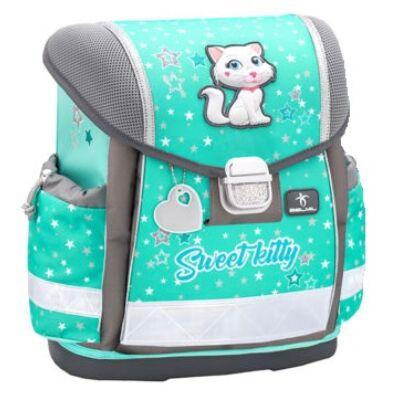Belmil Classy merevfalú iskolatáska Sweet Kitty cicás