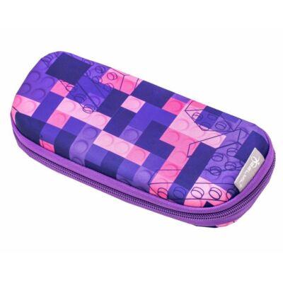 Belmil ovális keményfedeles tolltartó belső emelettel - Build it Pink