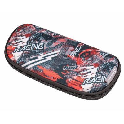 Belmil ovális keményfedeles tolltartó belső emelettel - Racing
