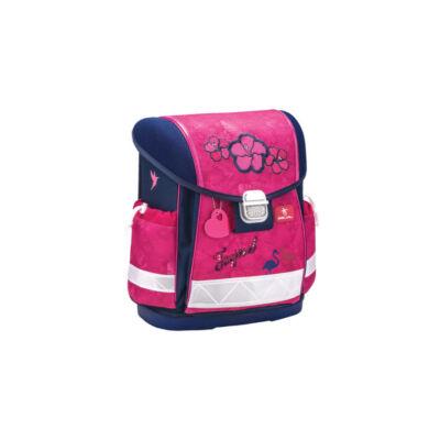 Belmil Classy flamingós merevfalú ergonómikus iskolatáska hátizsák - Tropical Pink