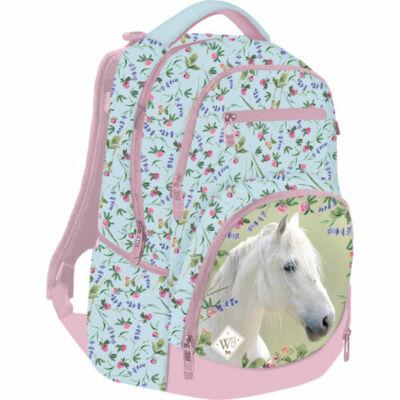Wild Beauty White Active+ hátizsák - lovas iskolatáska