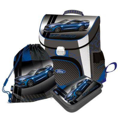 FORD Mustang prémium ergonómikus iskolatáska szett - sportautó 3 in 1