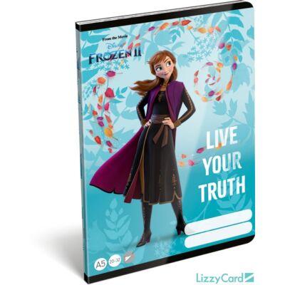 Jégvarázsos sima füzet A5 Frozen II