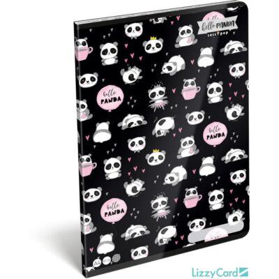 Pandás kockás füzet A4 Lollipop Hello Panda