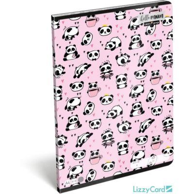 Pandás vonalas füzet A4 Lollipop Hello Panda