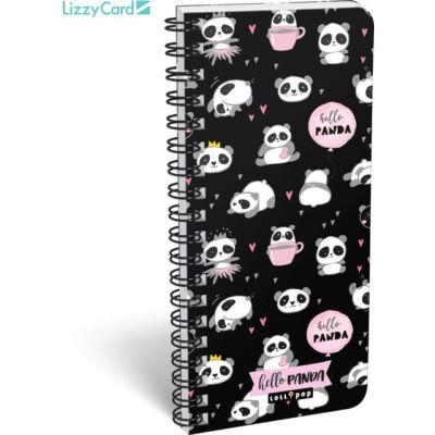 Pandás exkluzív spirál szótár füzet - 90x200 mm - Lollipop Hello Panda