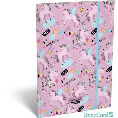 Unikornisos A4 gumis mappa - Lollipop Uni-cool