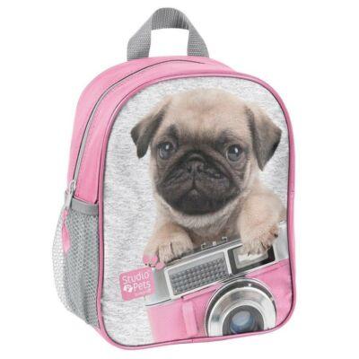 Mopsz kutyás kirándulós táska, ovis hátizsák
