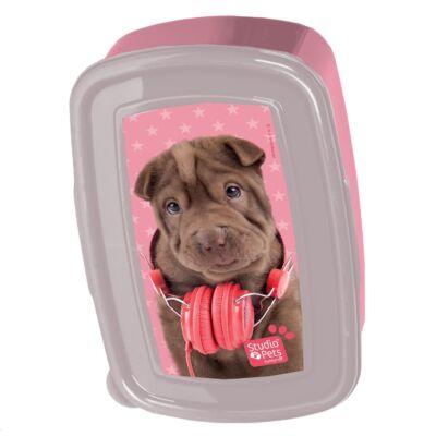 Paso uzsonnás doboz csokibarna shar pei kutya