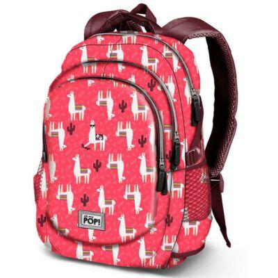 Oh my Pop Cuzco hátizsák, iskolatáska USB csatlakozóval - Láma