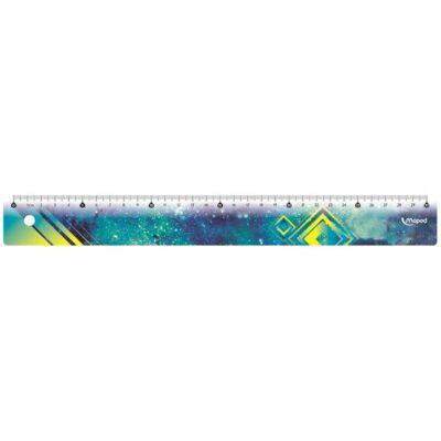 Vonalzó 30 cm - Maped Cosmic - kék