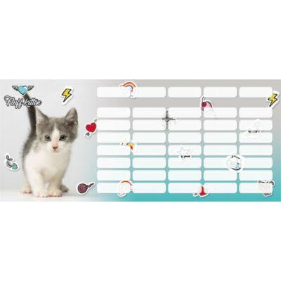 Pet Fluff Kitten Cicás kis méretű órarend