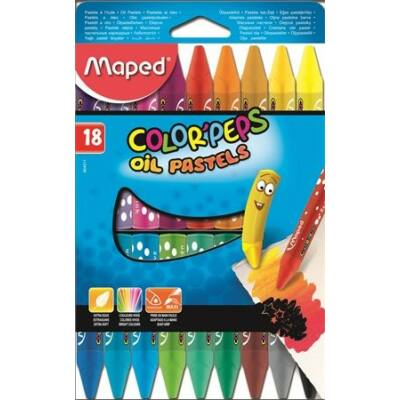 Maped Color Peps Olajpasztell kréta 18 szín