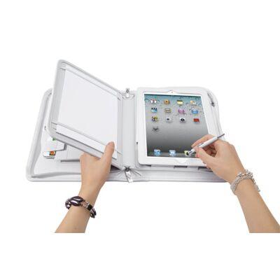 Konferencia mappa tablethez / iPadhez mobil tartóval  - WEDO - fehér