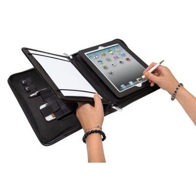 Konferencia mappa tablethez / iPadhez mobil tartóval  - WEDO - fekete