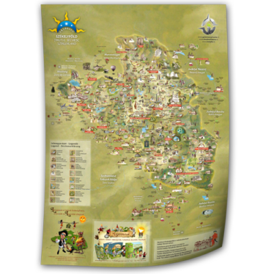 Székelyföld turisztikai térképe