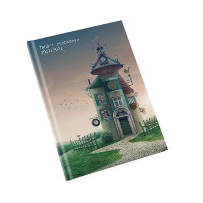 Tanári zsebnaptár tervező 2021/2022-es tanévre A5 papírborító - Realsystem - Ház