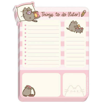 Pusheen cat to do lista jegyzettömb - cicás
