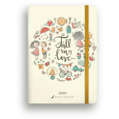 Heti tervező - Secret Calendar B6 - Fall in love határidőnapló / naptár