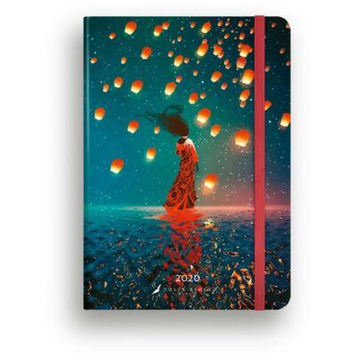 Heti tervező - Secret Calendar B6 -Lanterns határidőnapló / naptár