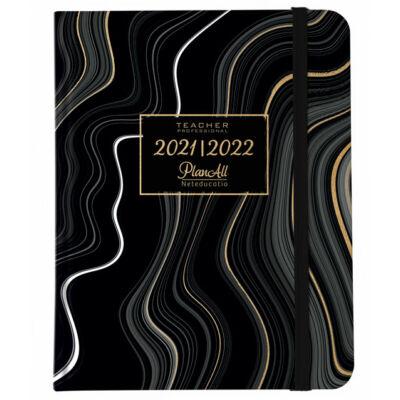 Tanári tervező naptár PlanAll Teach 2021/2022 - B5 - Black Waves