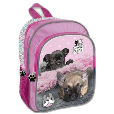 Kutyás kis méretű hátizsák ovis táska - Cleo and Frank - francia bulldog