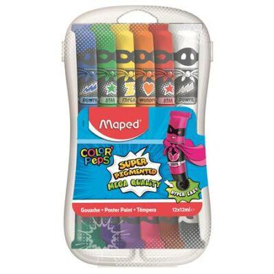 Tempera - Maped tubusos tempera dobozban - 12 szín