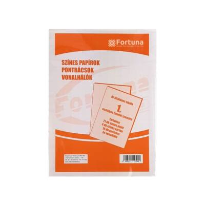 Fortuna színes papírok pontrácsok vonalhálók 1. osztályosok számára
