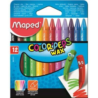 Maped Color Peps Wax háromszögletű zsírkréta 12 szín