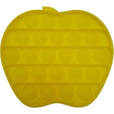 Pop it fidget stresszoldó játék - alma - citromsárga
