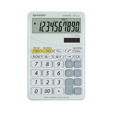 Asztali számológép - 10 számjegyes - SHARP EL-332 - Fehér