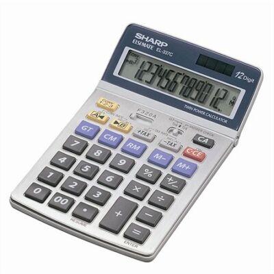 Asztali számológép - 12 számjegyes - SHARP EL-337