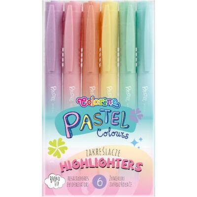 Szövegkiemelő készlet - Colorino Pastel - 6 pasztell szín/csomag