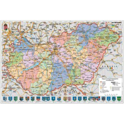 Magyarország közigazgatási térképe tanulói munkalap
