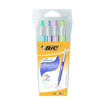 Golyóstoll készlet 0,3 mm - BIC Atlantis Exact - 4 szín / csomag